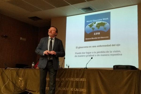 Conferencia del Doctor D. Virginio García Martínez. Titulada: EL GLAUCOMA