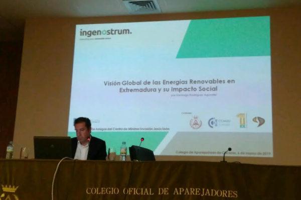 "Conferencia de D. Santiago Rodríguez Agúndez sobre ""Energías Renovables"""