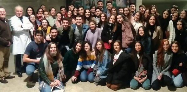 Alumnos y alumnas de 1º de Medicina de la UEX visitan el CCMIJU.