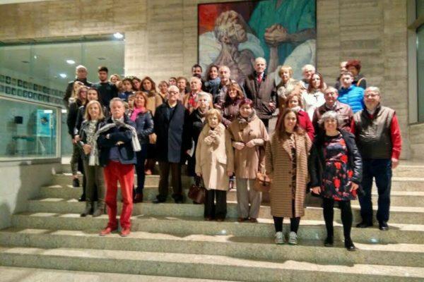 Socios/as de ASCEMI visitan el CCMIJU y  disfrutan de un Concierto del «Trio Adarve»